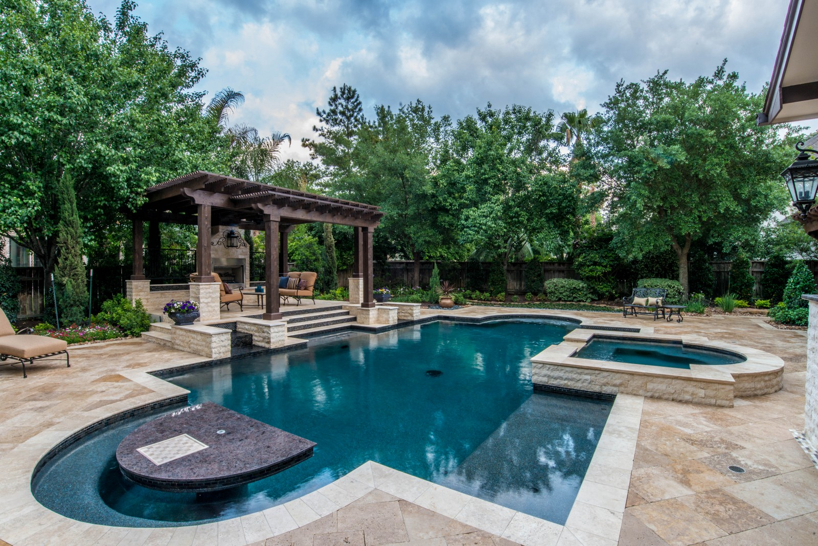 See our work new life outdoors landscape company for Pool design by laly llc